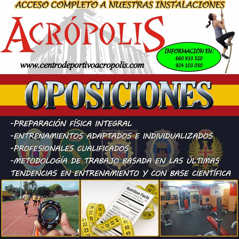 Oposiciones Acrópolis Badajoz